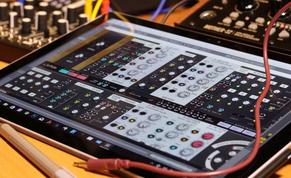 Softube Modular running on a Surface Pro 4
